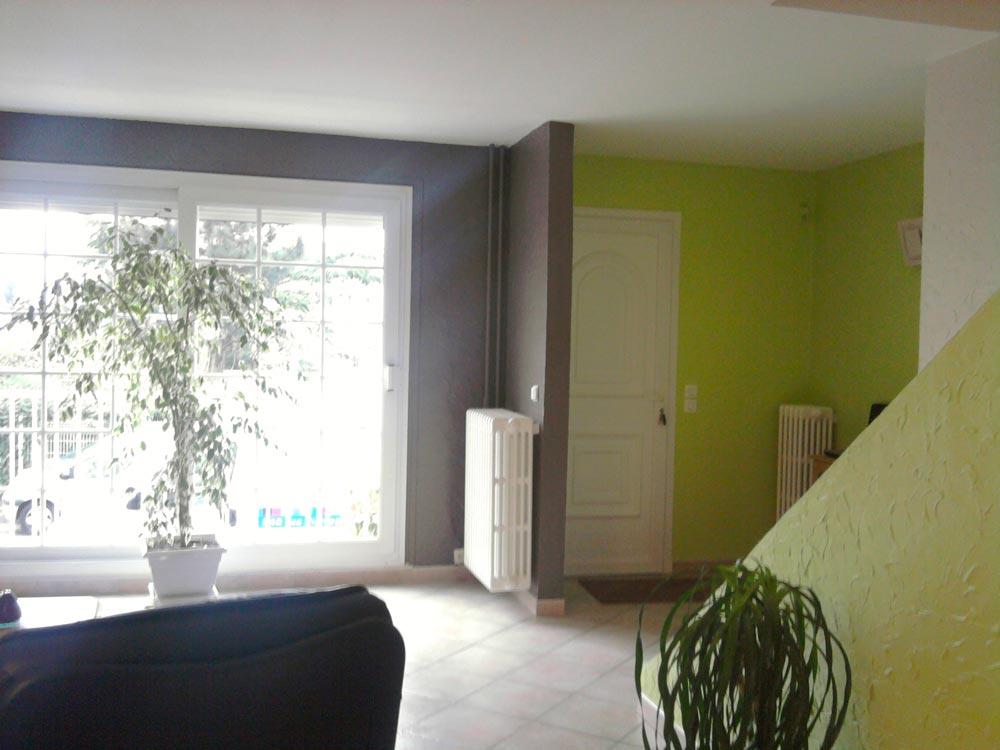 Rénovation complète salle-salon à Petit Couronne (76)