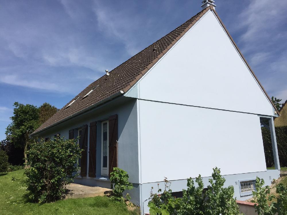 Ravalement de façade et peinture de caches moineaux près de Rouen (76)