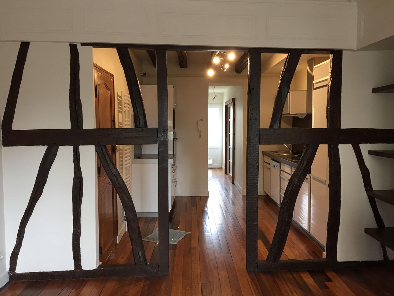 Réfection d'un appartement à Rouen pour un propriétaire bailleur